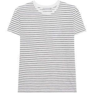 VINCE Basic Stripes T-shirt - Black and white